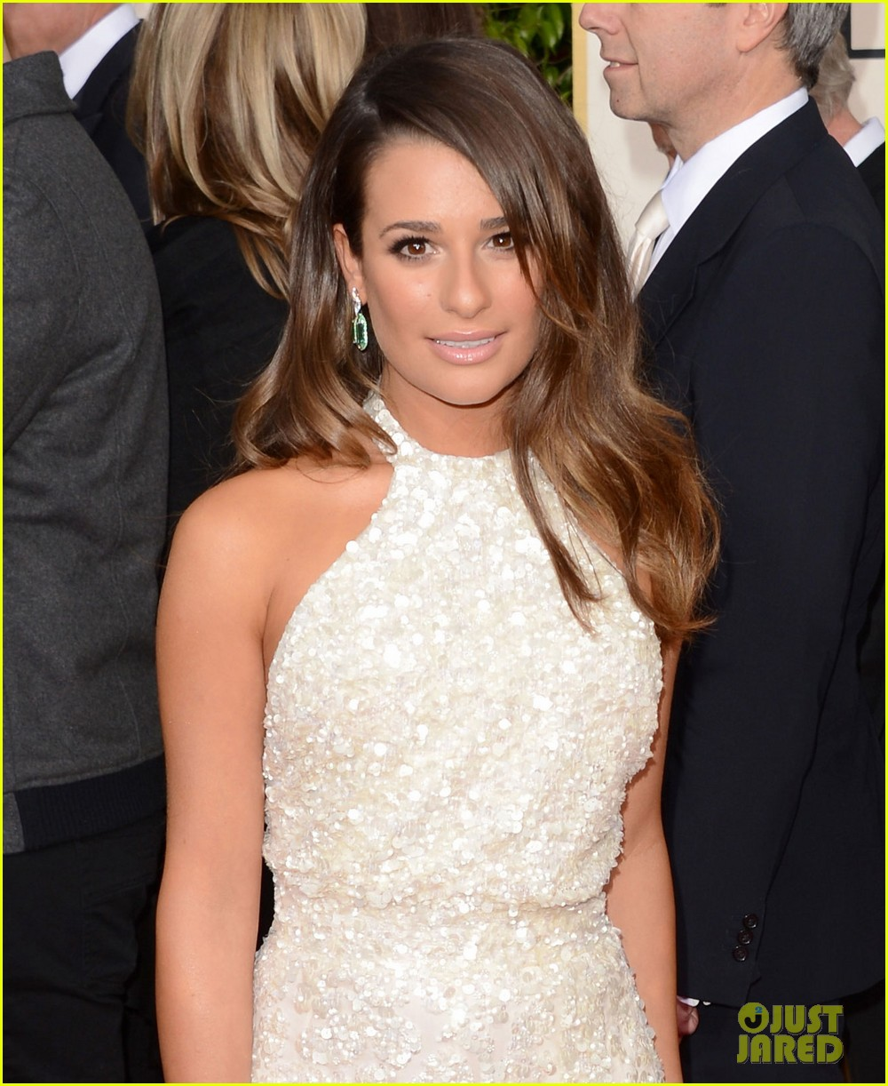 lea michele golden globes 2013 red carpet 01