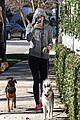 miley cyrus hoodie walk with pet pooch 07