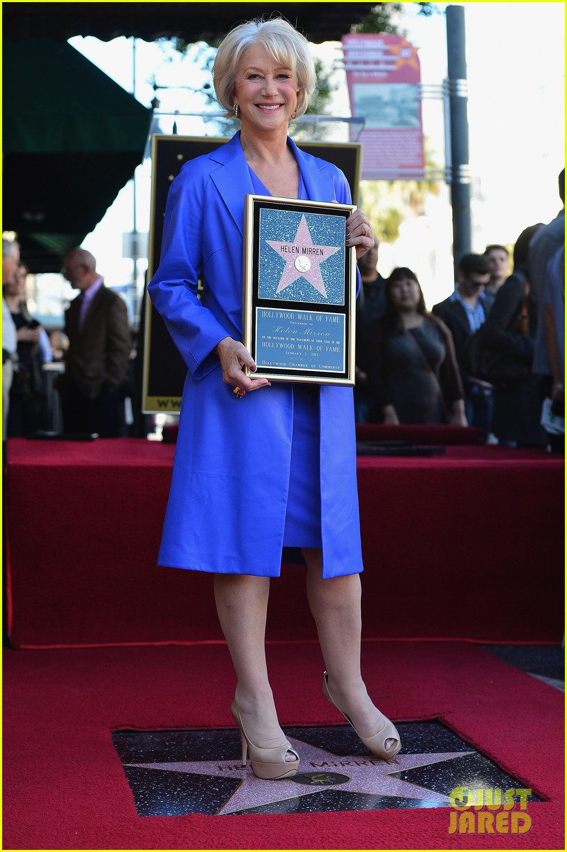 helen mirren receives star on hollywood walk of fame 152784357