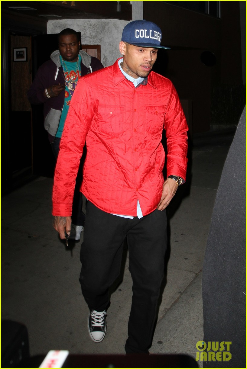 rihanna chris brown separate studio exits 122794195