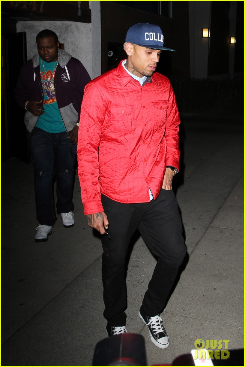 rihanna chris brown separate studio exits 172794200