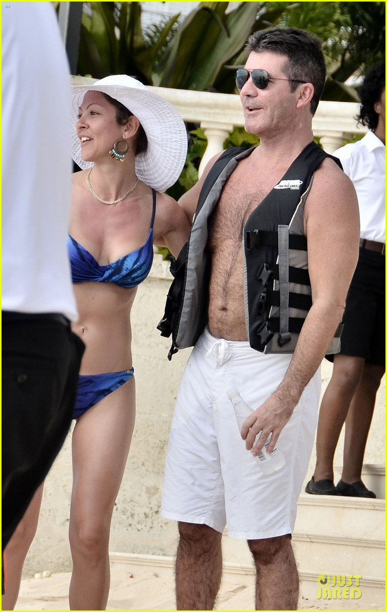 simon cowell shirtless new years eve with mezhgan huissany 122783293