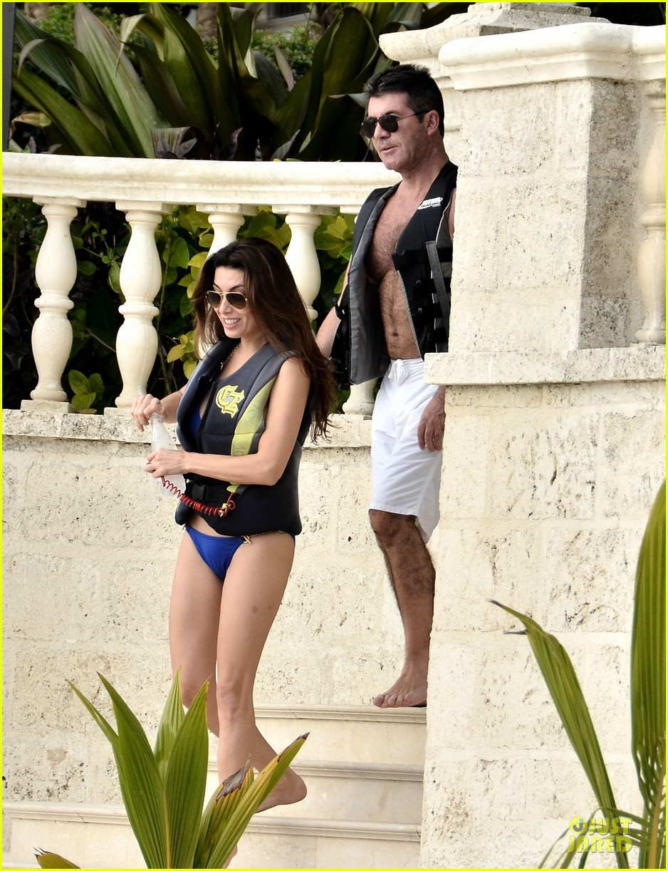 simon cowell shirtless new years eve with mezhgan huissany 16