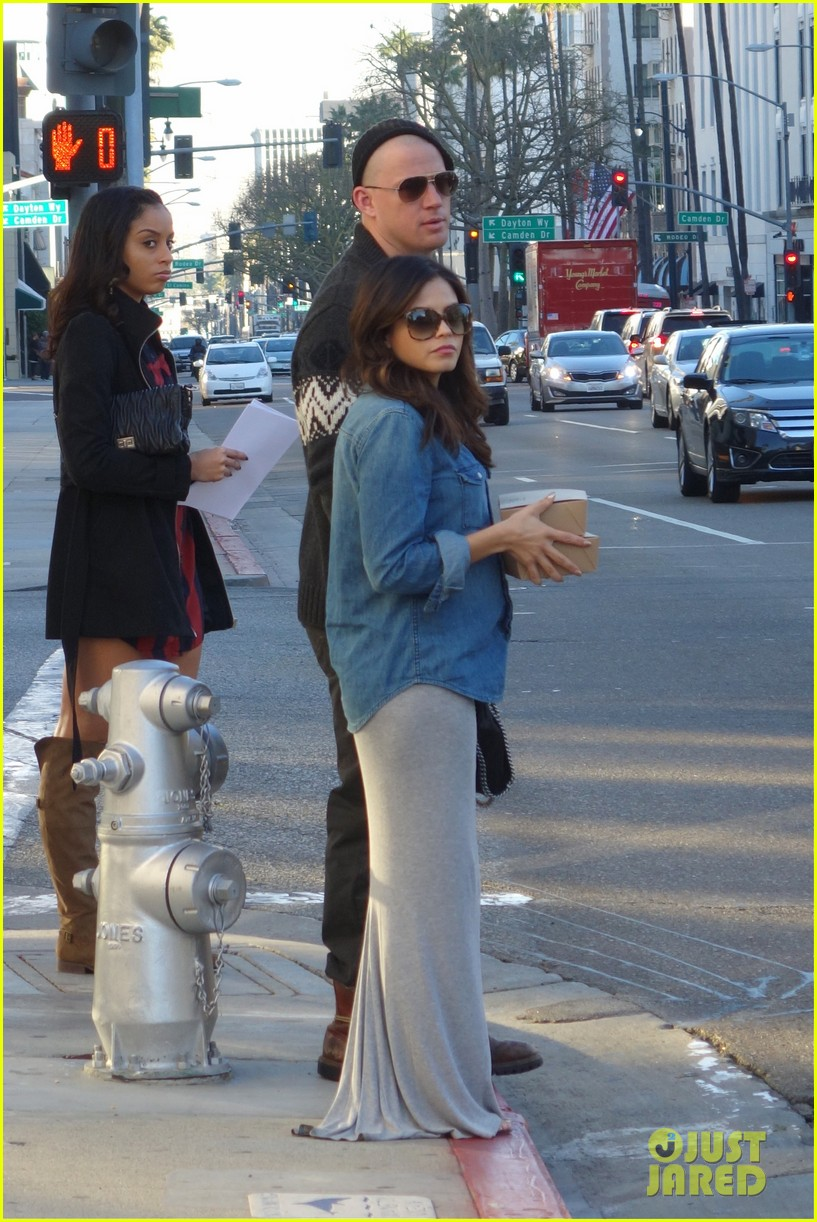 channing tatum bald head with pregnant jenna dewan 01