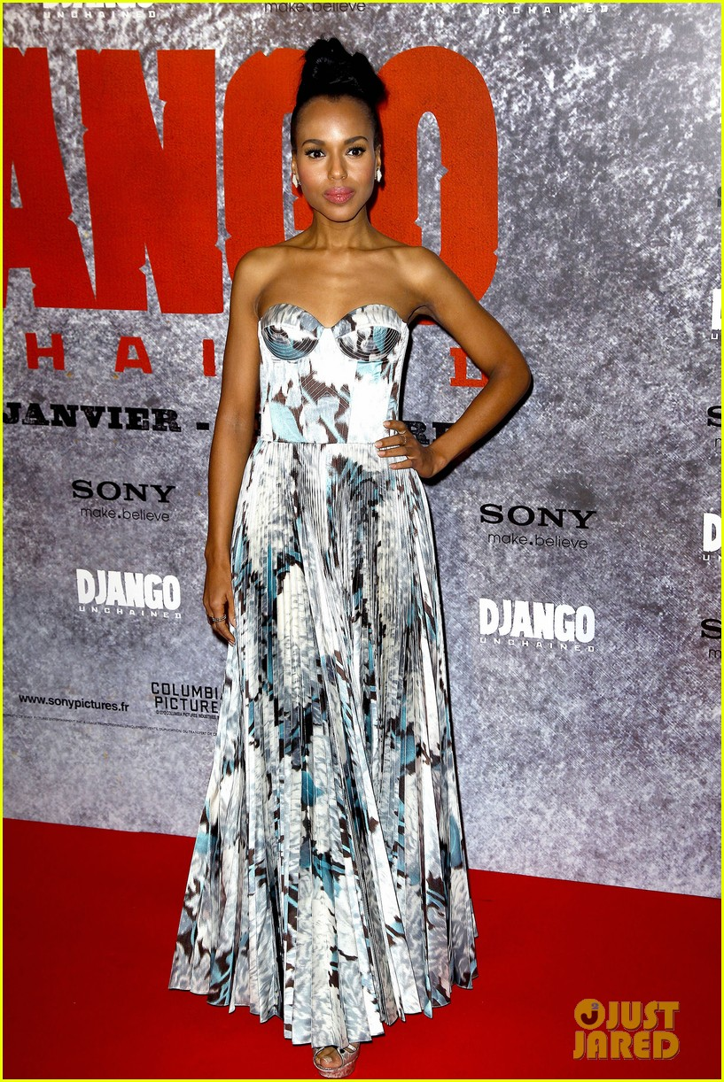 kerry washington jamie foxx django unchained paris premiere 01