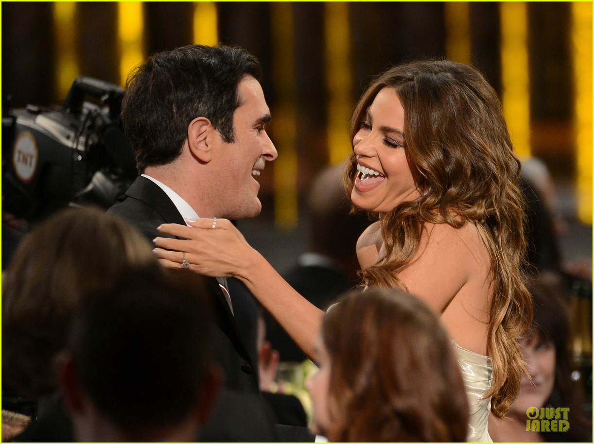 sofia vergara nick loeb sag awards 2013 red carpet 042799842