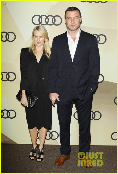 naomi watts & liev schreiber golden globes kick off cocktail party 06