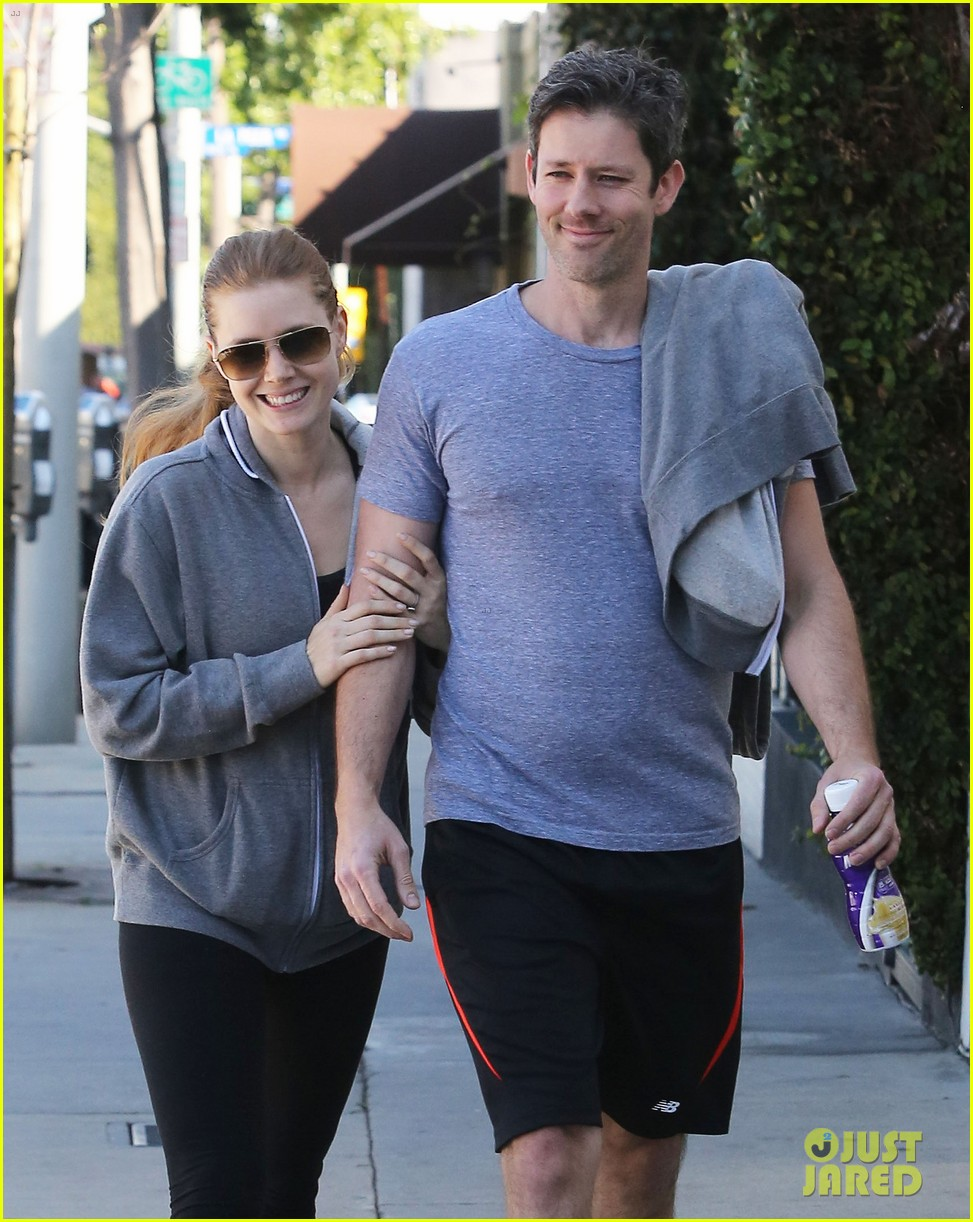 amy adams darren le gallo weho workout twosome 092816366