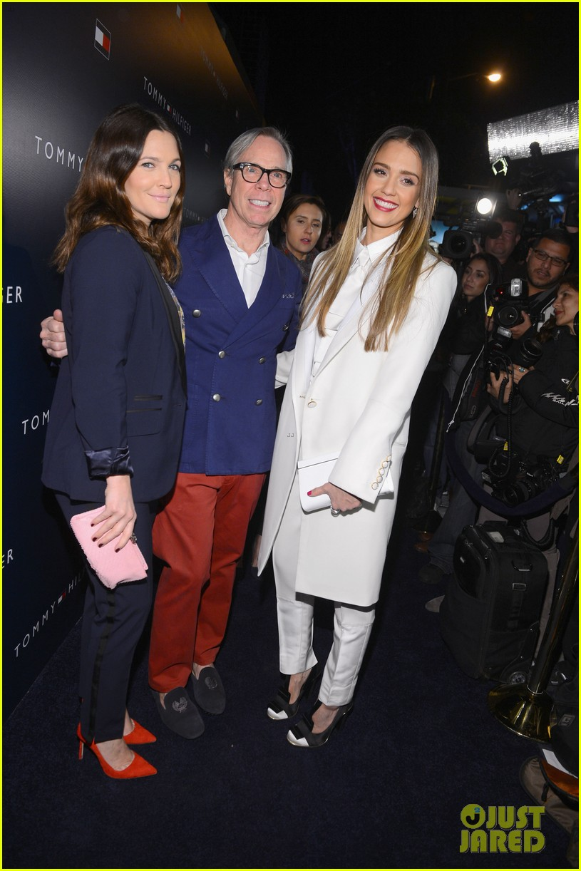 jessica alba drew barrymore tommy hilfiger store opening 142811767