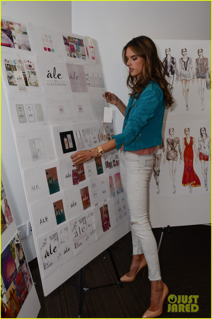alessandra ambrosio works on ale by alessandra designs 11