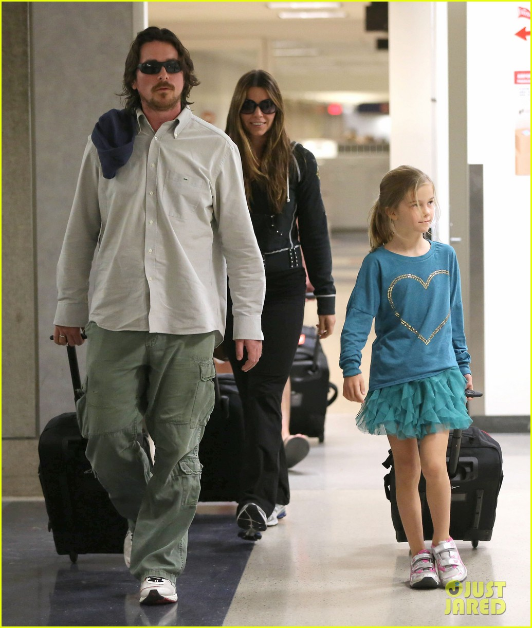 christian bale post birthday family flight 11