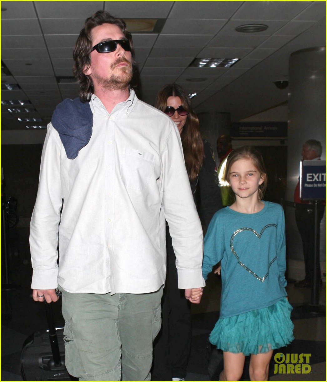 christian bale post birthday family flight 12
