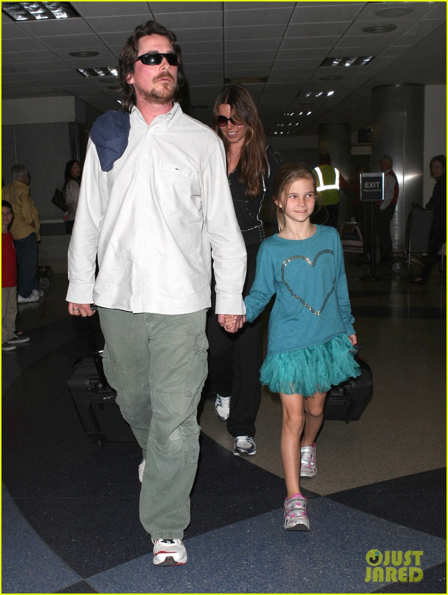 christian bale post birthday family flight 13