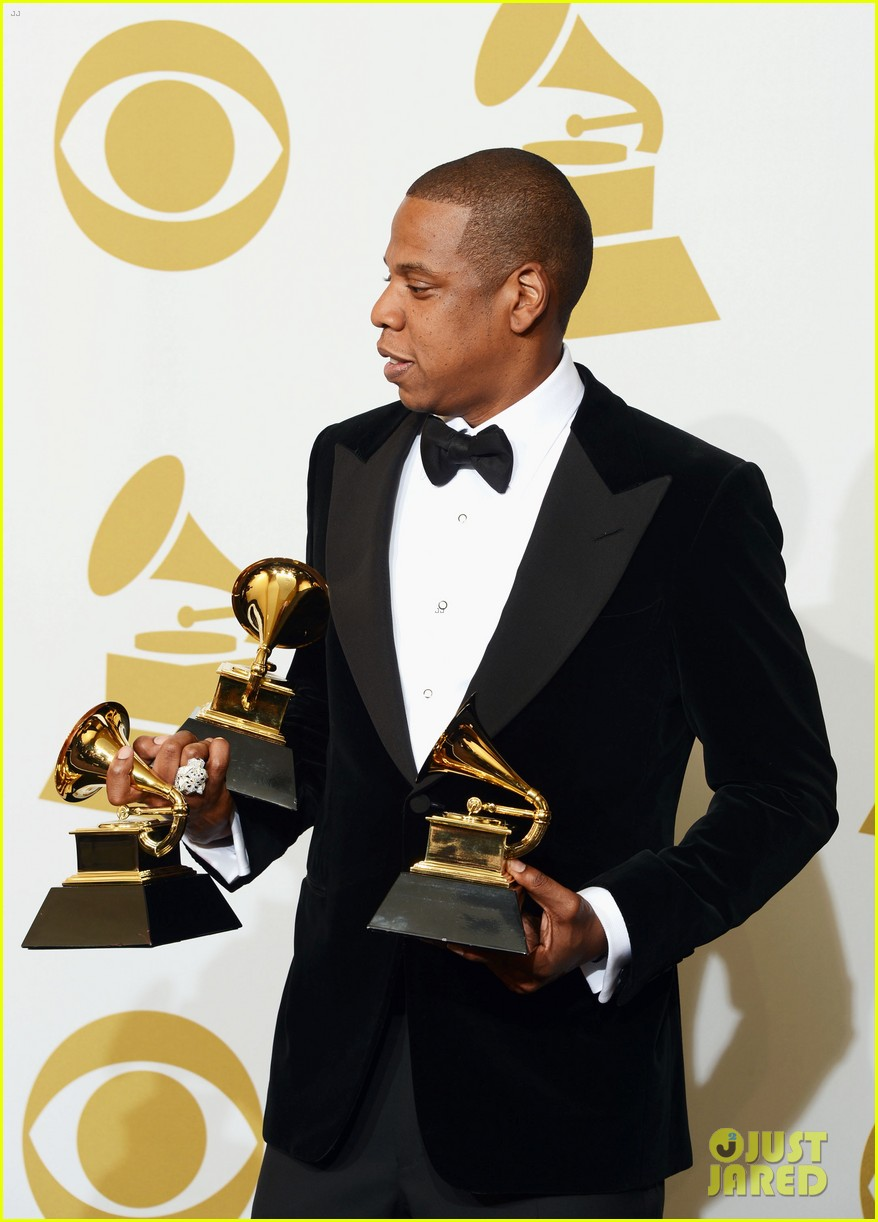 beyonce jay z grammys 2013 winners room photos 19