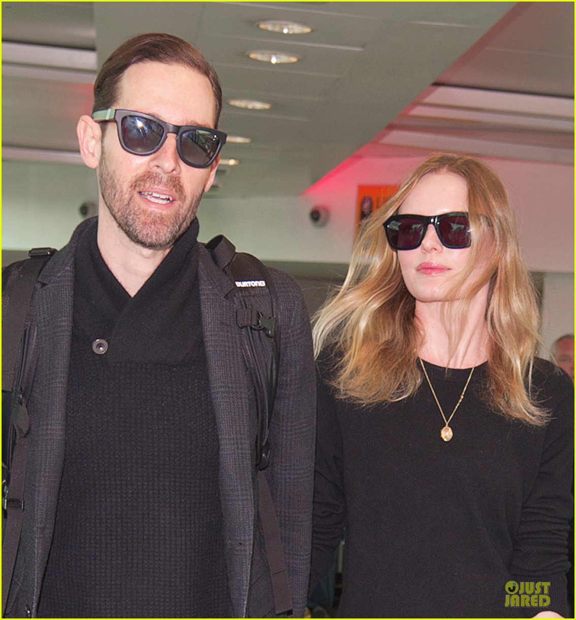 kate bosworth michael polish london fashion week arrival 01