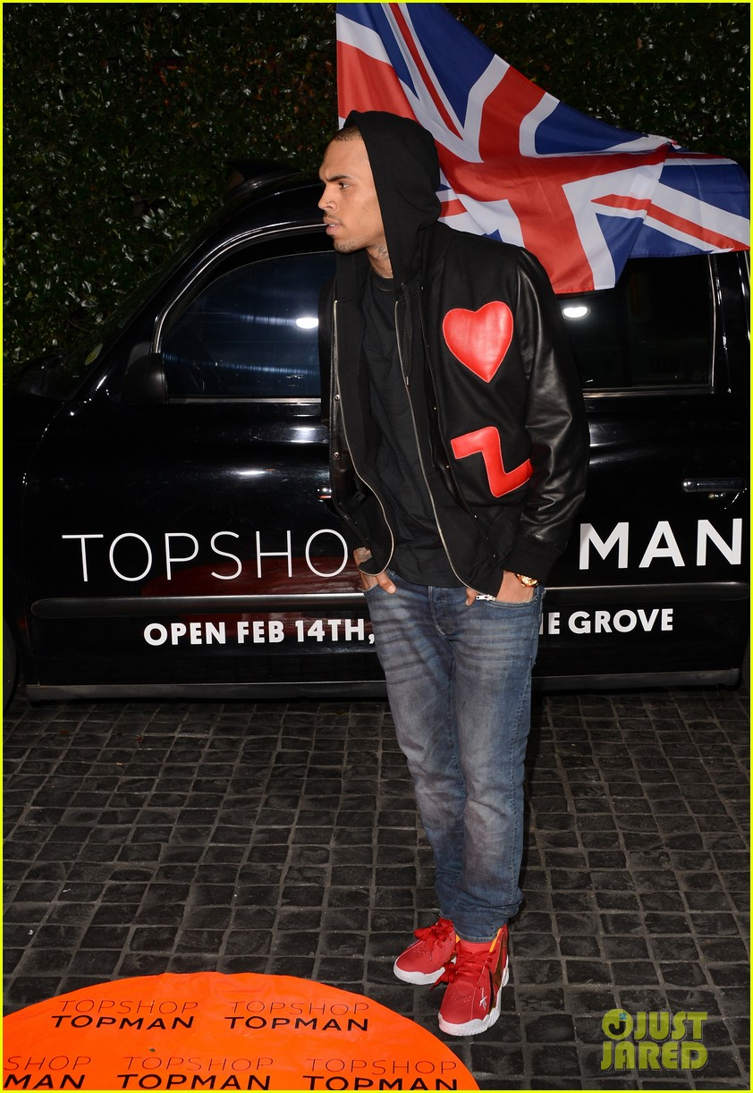chris brown solange knowles topshop topman la opening party 14