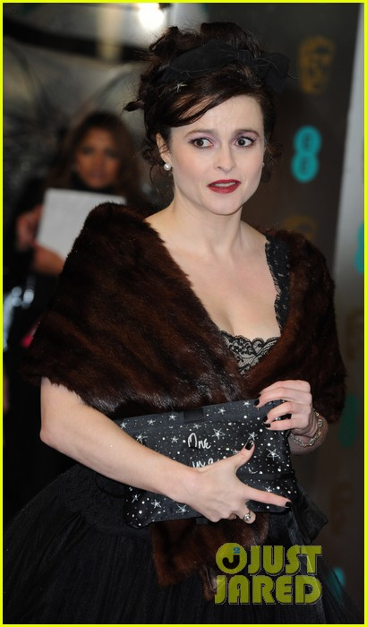 tim burton helena bonham carter baftas 2013 red carpet 02