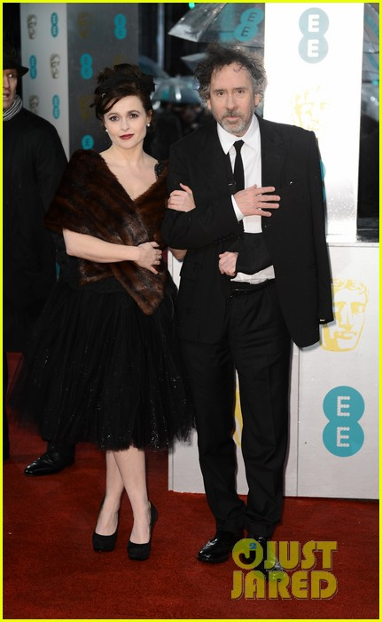 tim burton helena bonham carter baftas 2013 red carpet 05