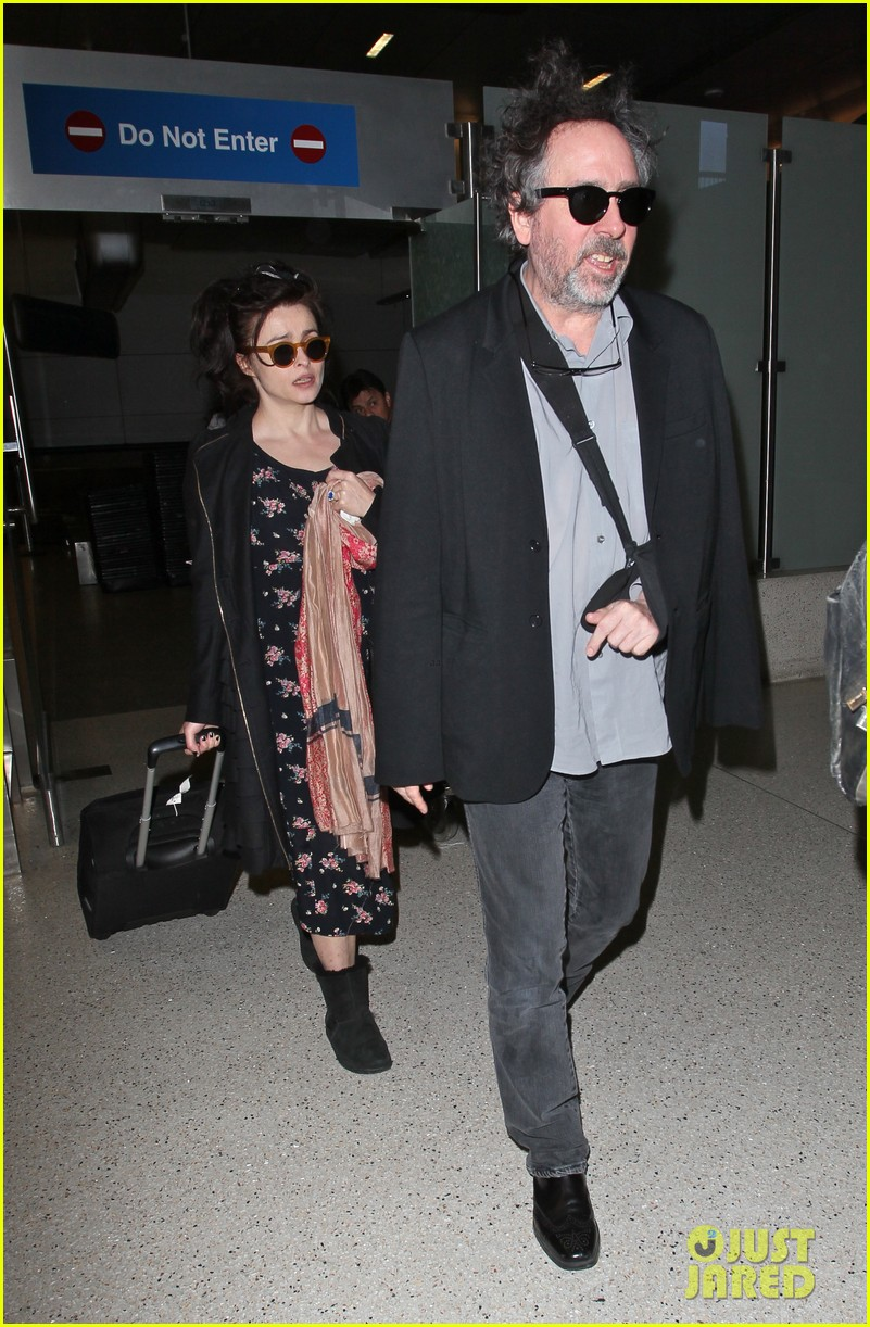 helena bonham carter tim burton arrive for oscars week 03