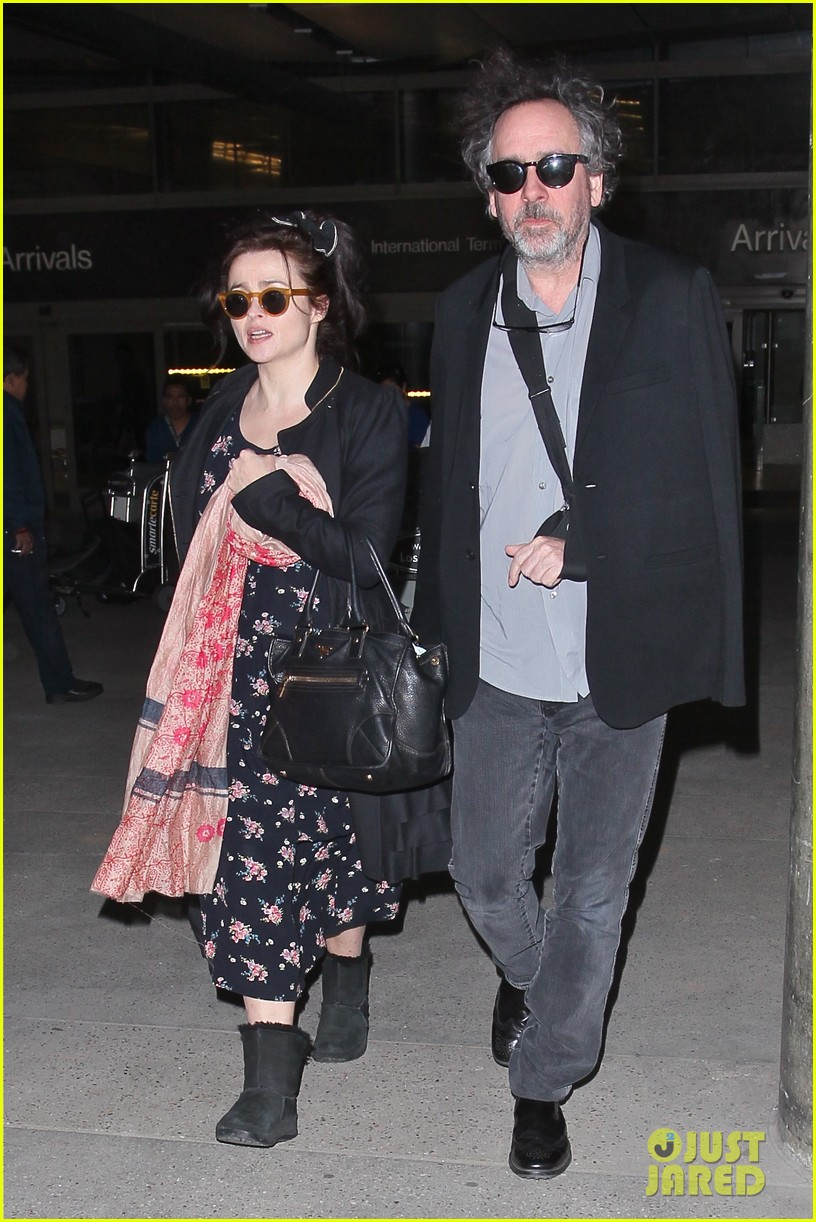 helena bonham carter tim burton arrive for oscars week 15