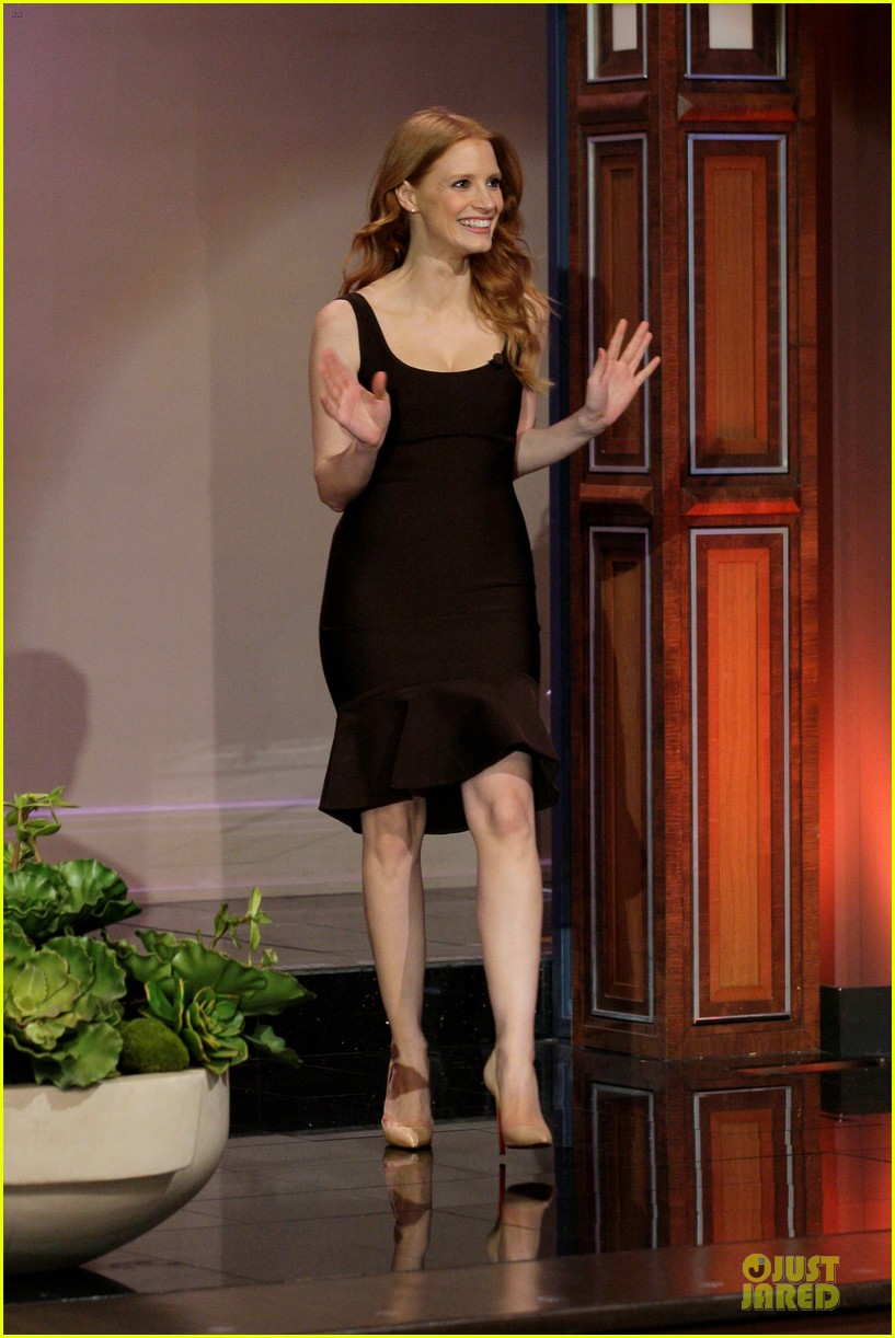 jessica chastain hugh jackman tonight show with jay leno guests 01