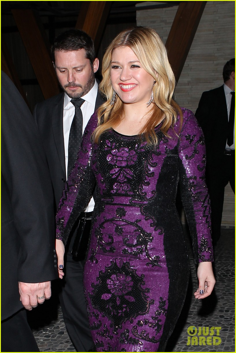 kelly clarkson adele sony music grammy after party 07