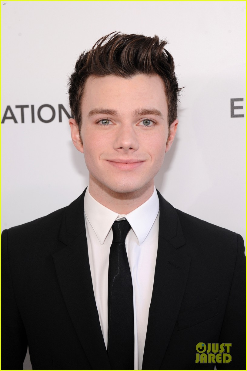 chris colfer matthew morrison elton john oscars party 2013 06
