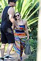 hilary duff hawaii sunset stroll 03