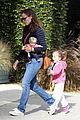 jennifer garner karate drop off with seraphina dolls 34
