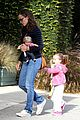 jennifer garner karate drop off with seraphina dolls 35