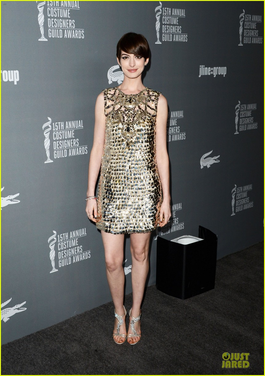 anne hathaway cdg awards 2013 red carpet 05