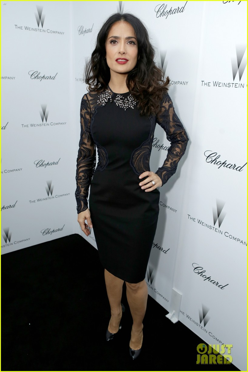 salma hayek weinstein pre oscars party 2013 01