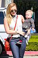 hilary duff mike comrie lax departure with luca 18