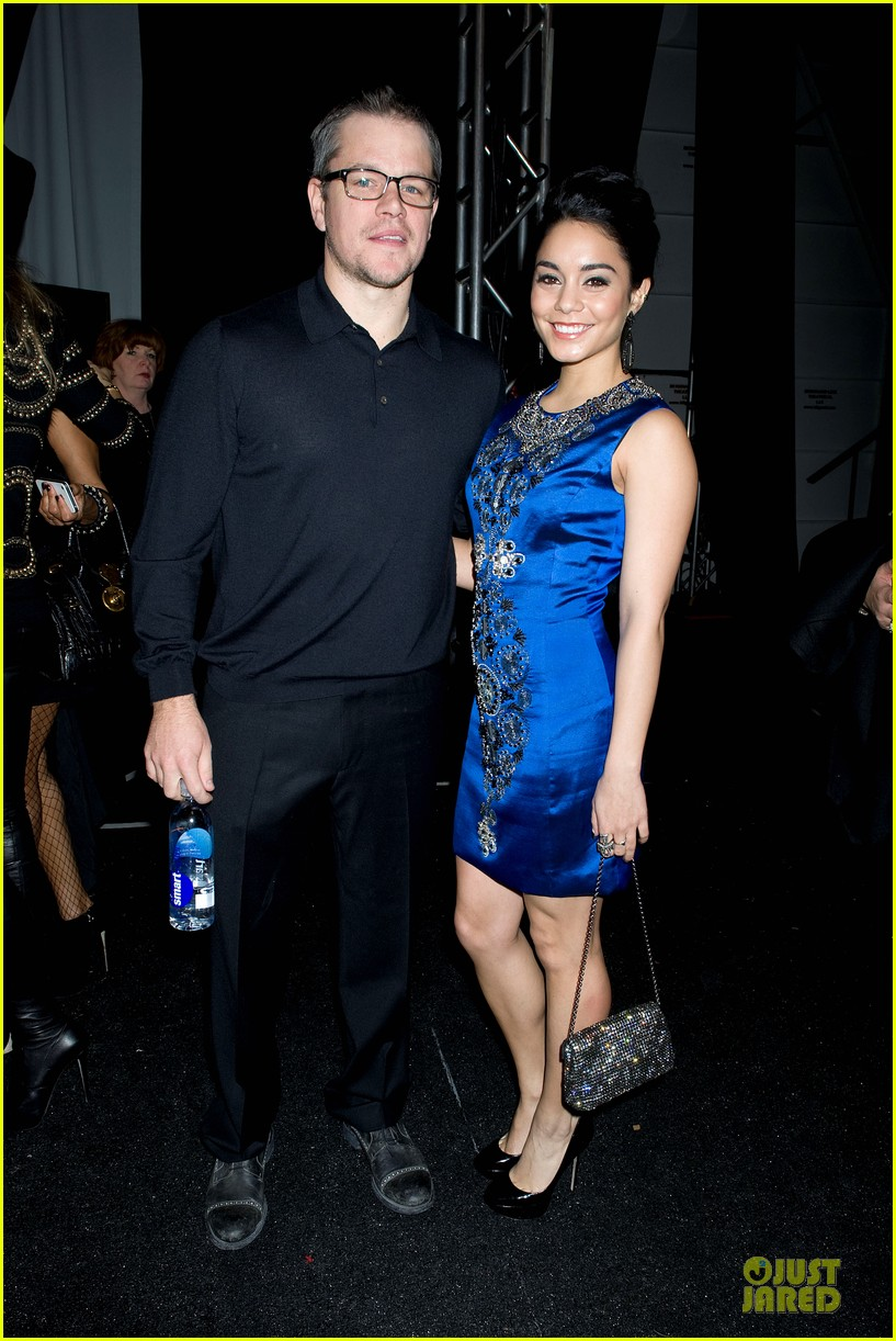 vanessa hudgens matt damon naeem khan fashion show 022810806