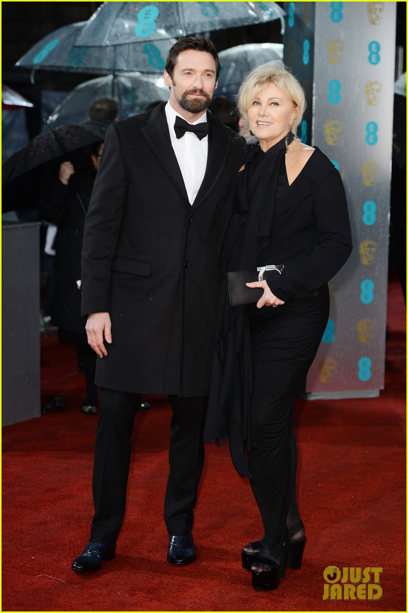 hugh jackman baftas 2013 red carpet 01