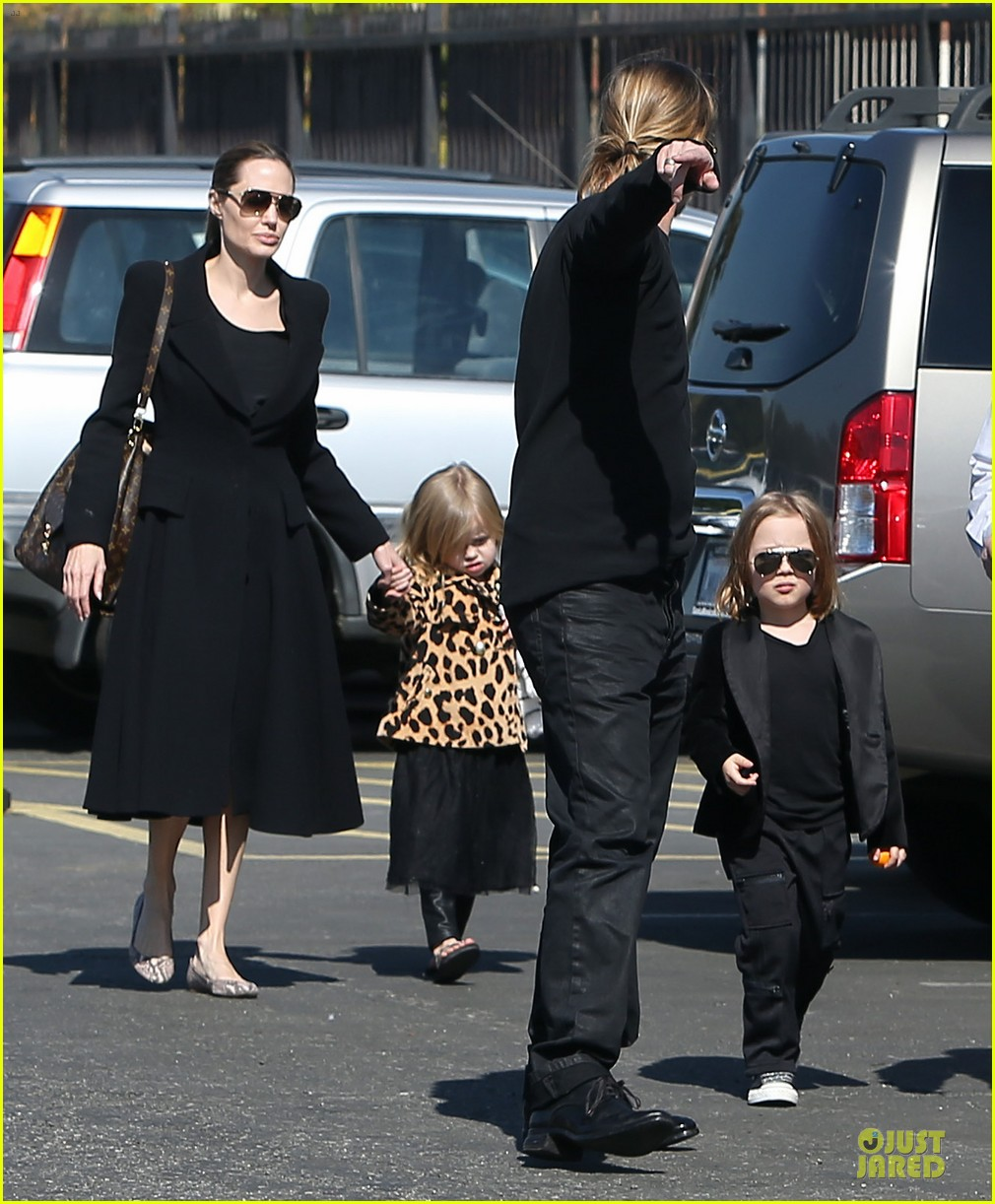 angelina jolie brad pitt valentines day with the twins 032813583