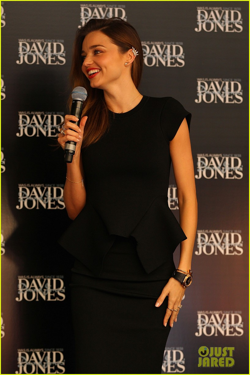 miranda kerr earcuff at david jones fashion workshop 09