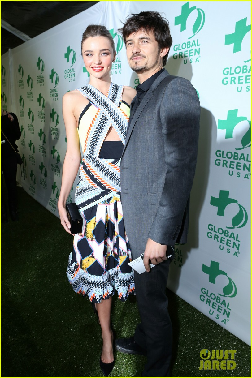 miranda kerr orlando bloom global green pre oscars party 02