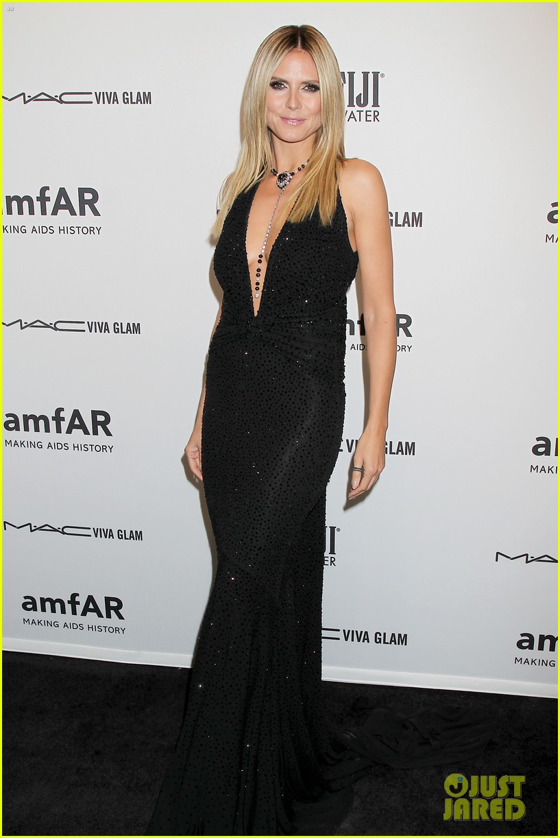 heidi klum anne v amfar new york gala 2013 11