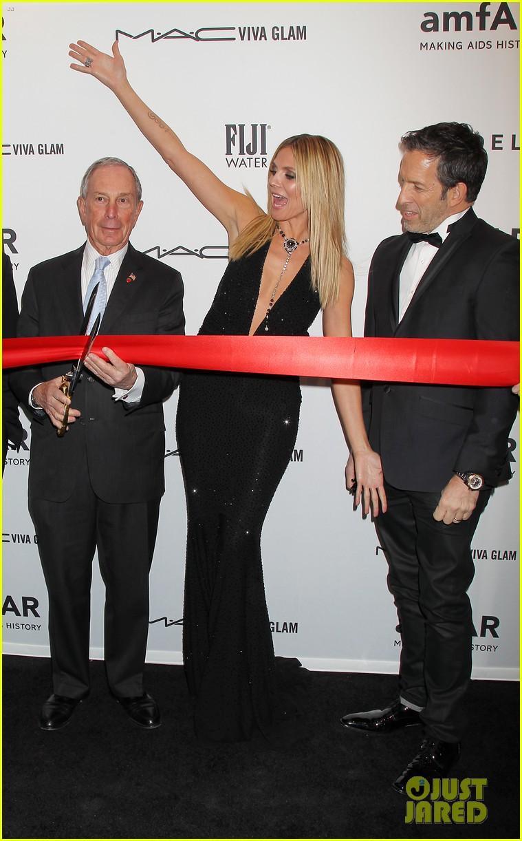 heidi klum anne v amfar new york gala 2013 17