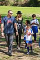 heidi klum martin kirsten pre oscars soccer practice 01