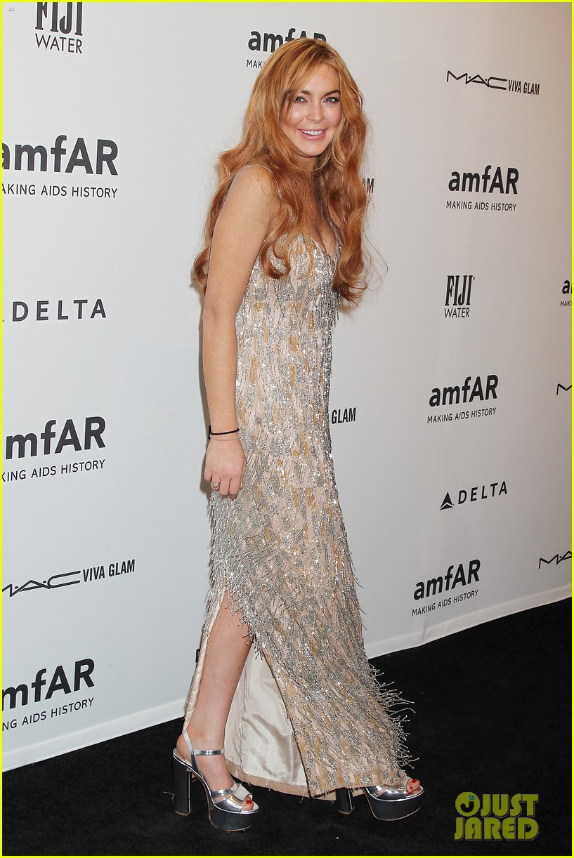 lindsay lohan ashley greene amfar new york gala 2013 13