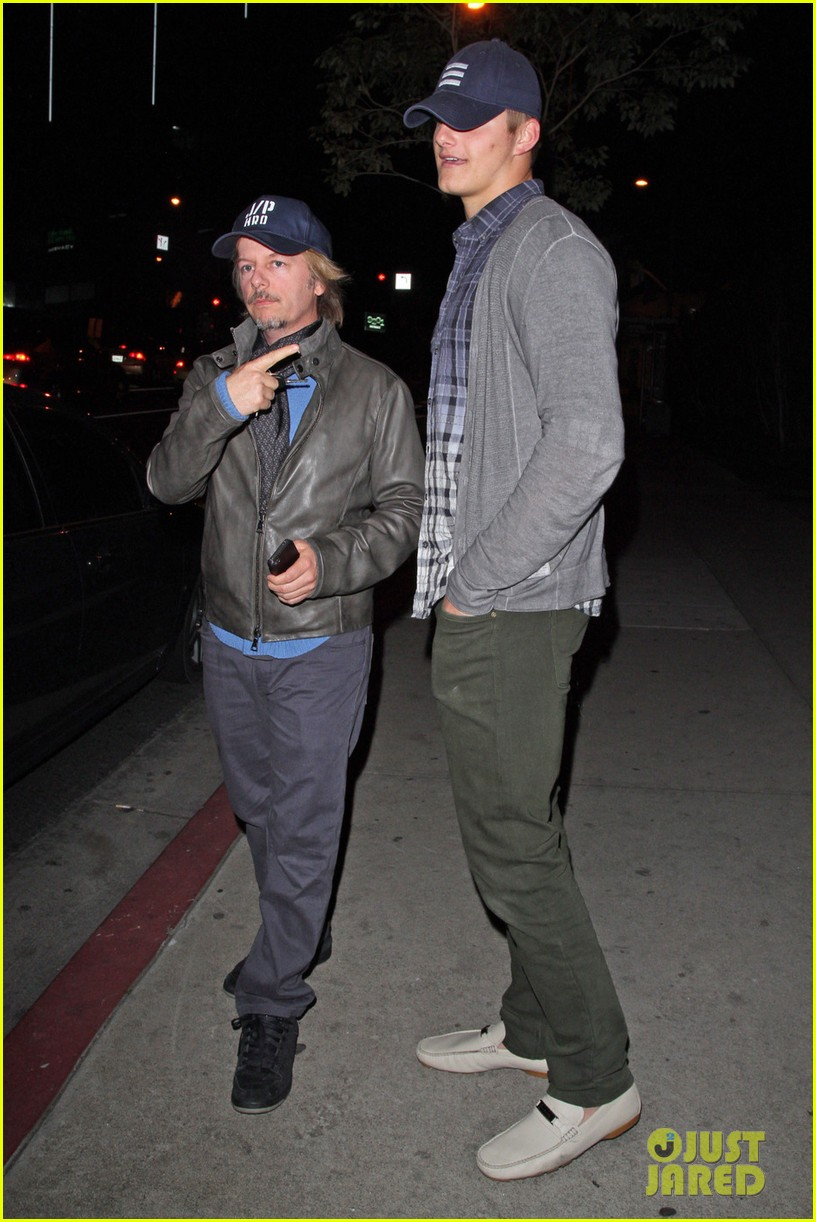 alexander ludwig boa steakhouse dinner with david spade 01