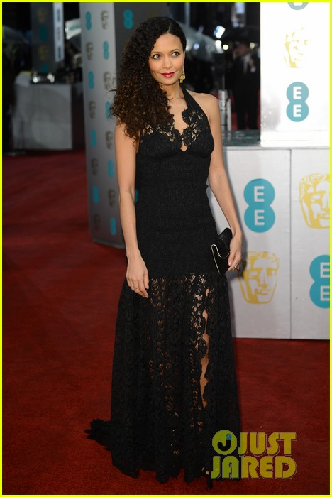 thandie newton baftas 2013 red carpet 01