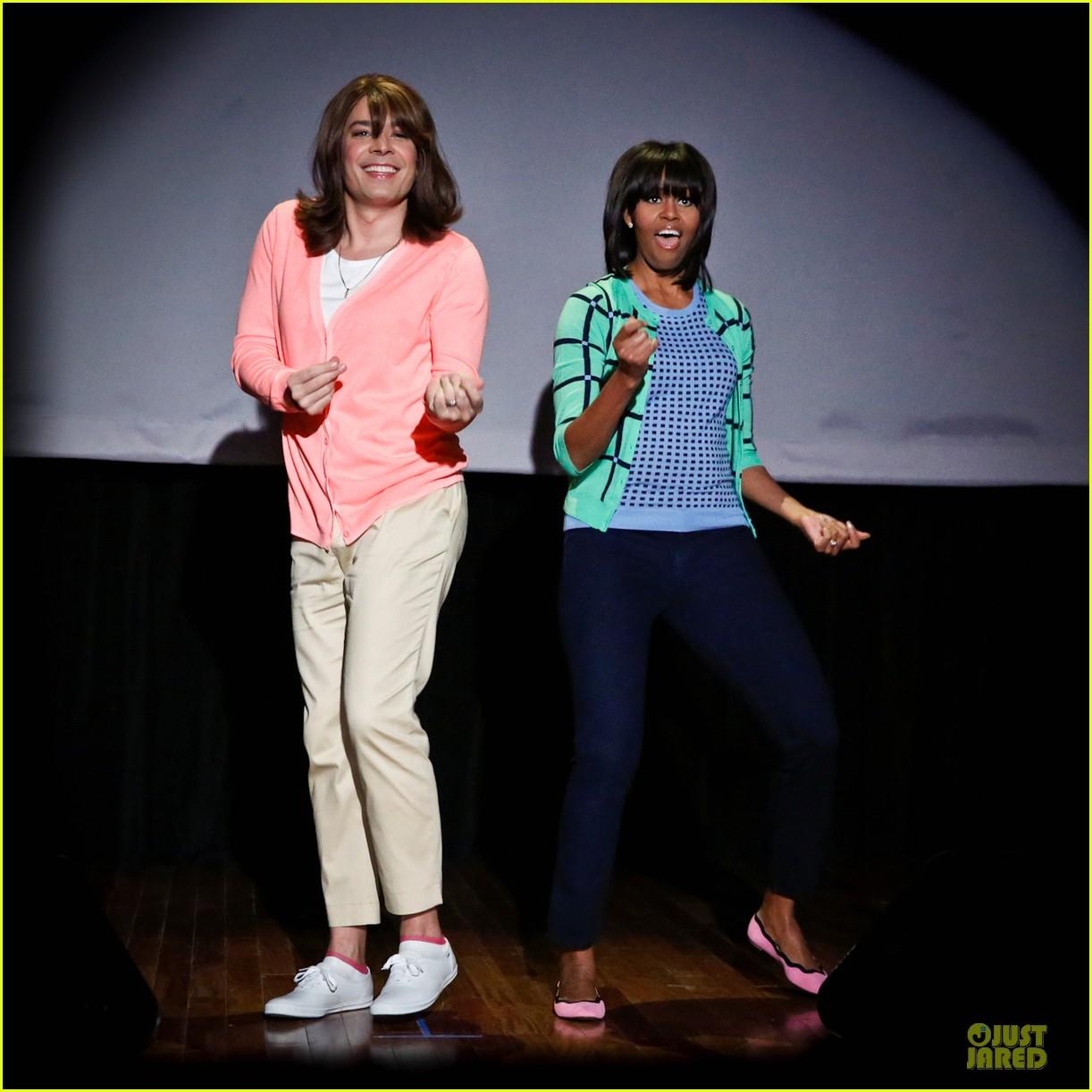 michelle obama evolution of mom dancing on fallon 01