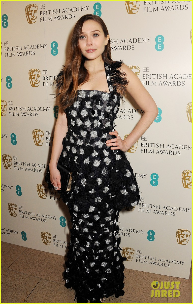 elizabeth olsen baftas 2013 red carpet 052808970