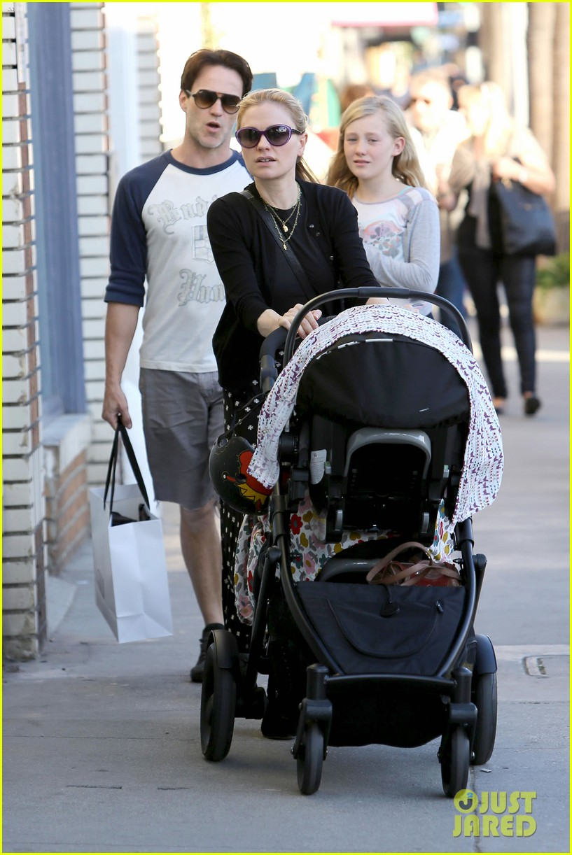 anna paquin shopping with one of her twins 102805998