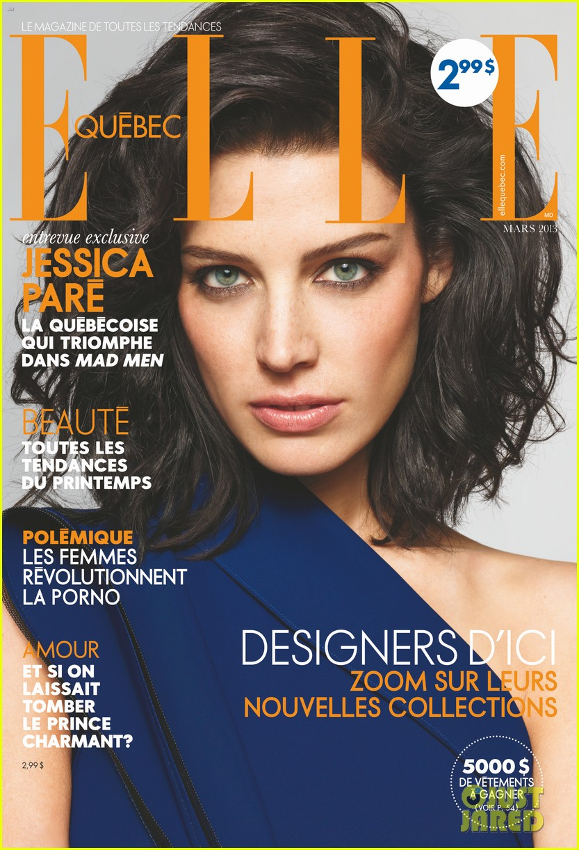 jessica pare covers elle canada march 2013 02