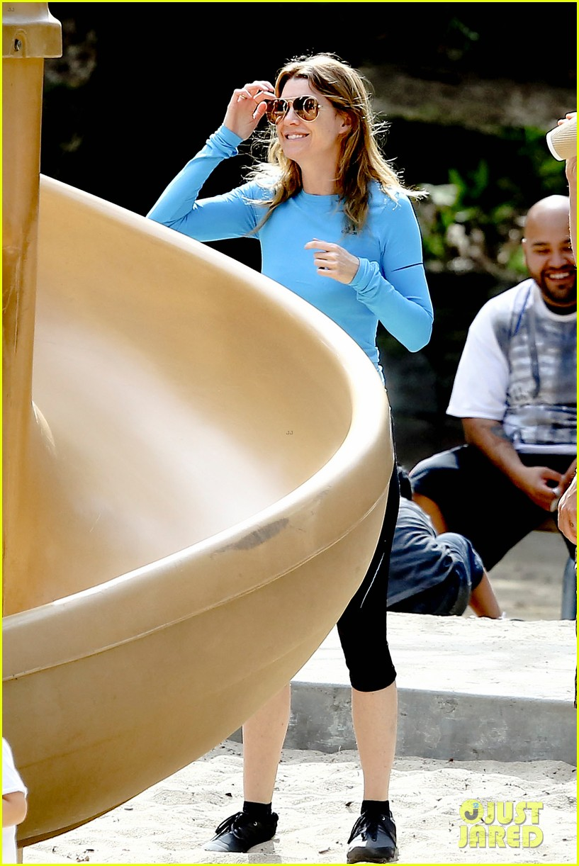 ellen pompeo sliding with stella 022813742