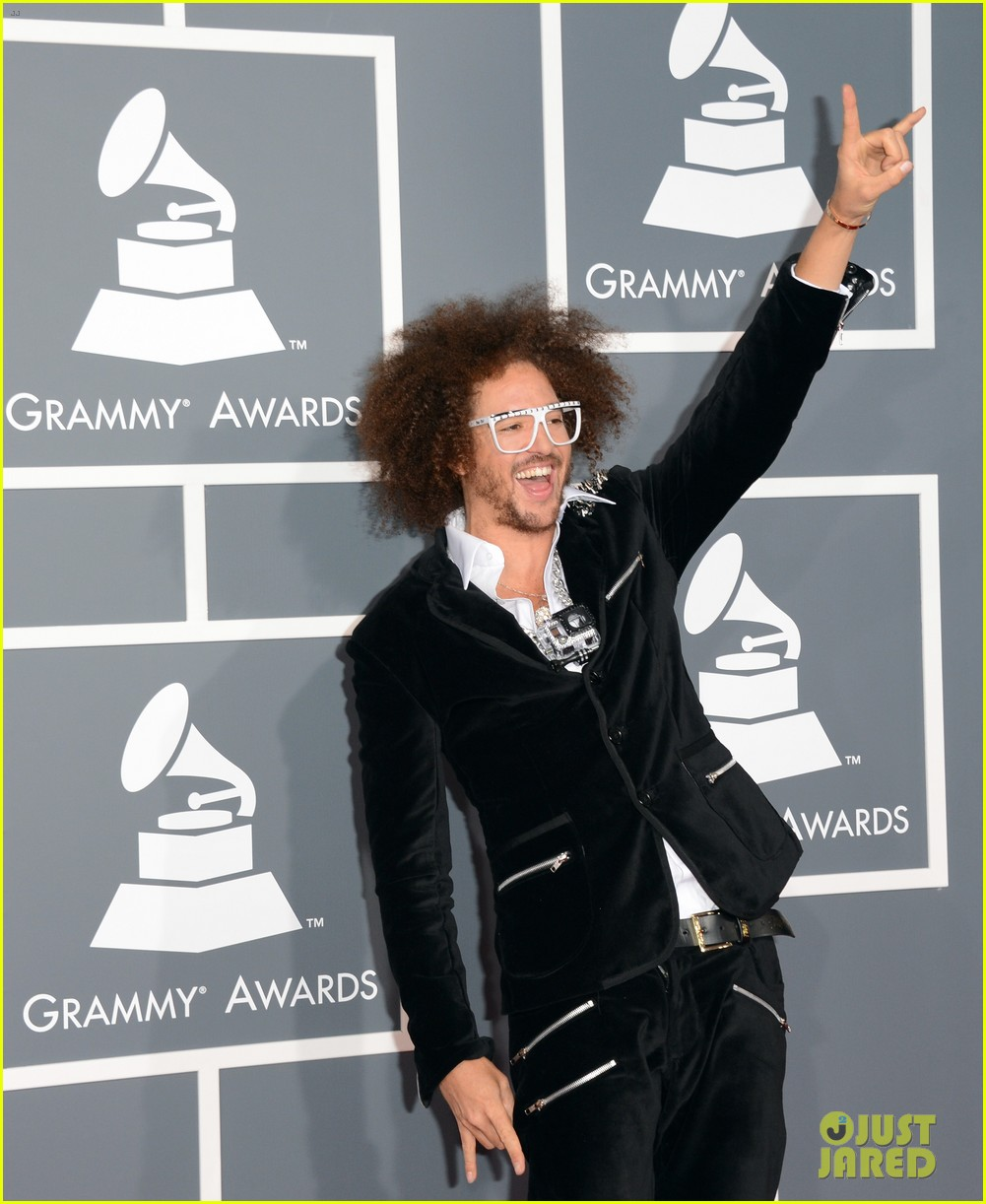 redfoo sean paul grammys 2013 red carpet 17